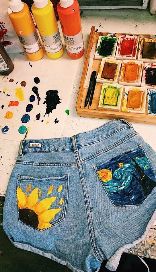 36 Wonderful Painted Clothes Make You Unique DIY cloth, painted cloth, DIY