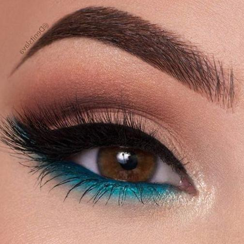 35 Color-rich Eye Makeup Designs for Women 2020 eyebrows, eye shadow, eyeliner, eye makeup, eye makeup trends 2020, eye makeup ideas