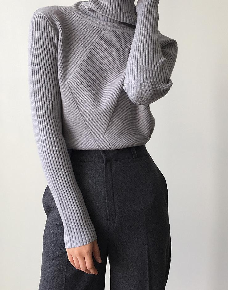 Nice high-necked tight solid-colored sweater sweater, fashion style, cloth, knitting,