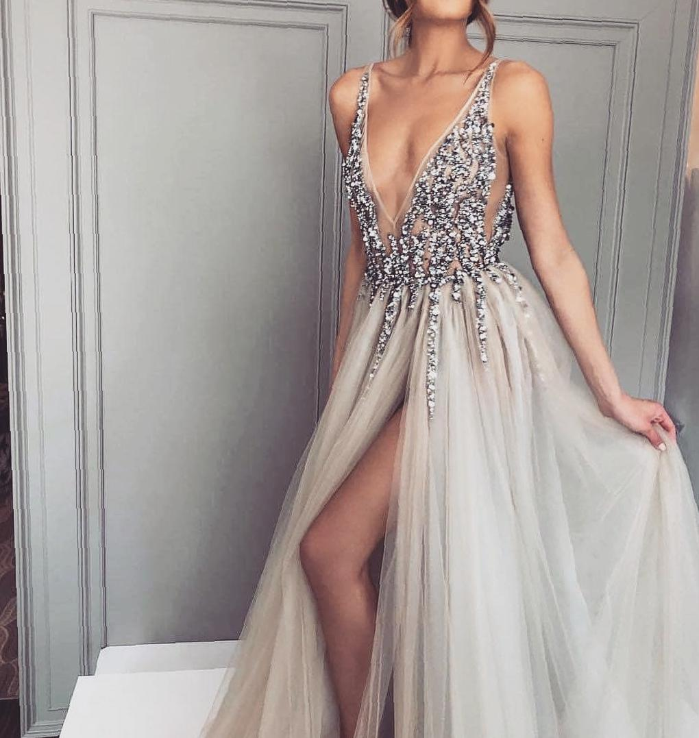 Elegant yarn long evening dress makes you exquisite and attractive prom dress, evening dress, fashion, dress style
