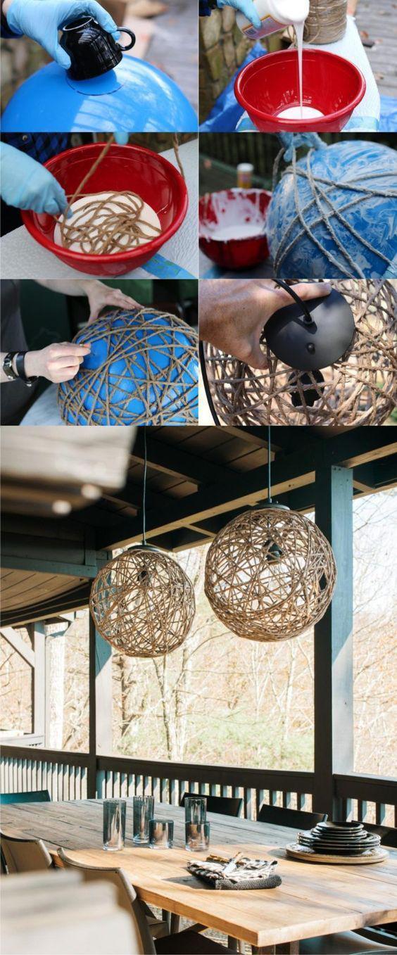35 Environmental DIY Lighting for Home Decor DIY lamps, DIY decor, home decor, recycle home decor