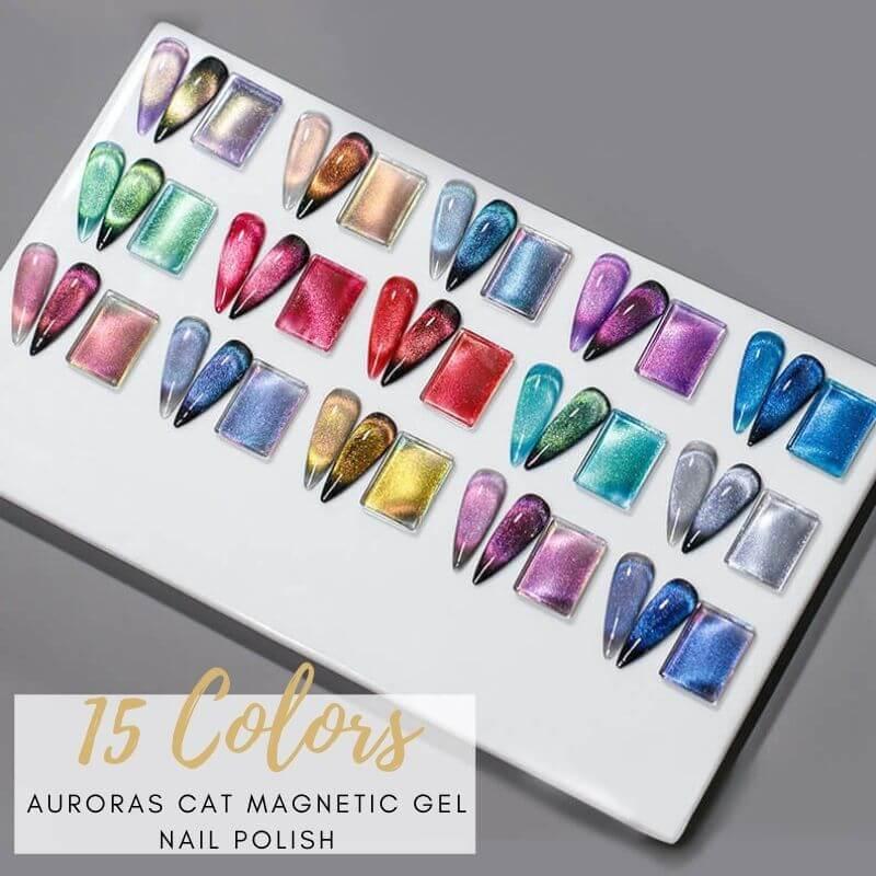 15ML Auroras Cat Eye Magnetic Gel Polish VT202310 - Vettsy