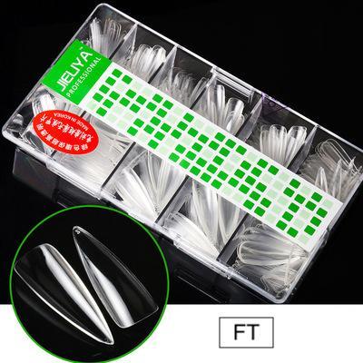 500pcs No Crease Natural/Transparent False Nail Tips VT202227 - Vettsy
