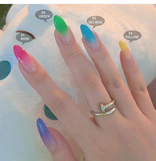 5pcs/Set Thermal Color Changing Poly Gel Kit VT202267 - Vettsy