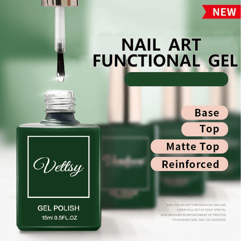 Vettsy™ Nail Art Functional Gel Base/Top Coat VT202317 - Vettsy