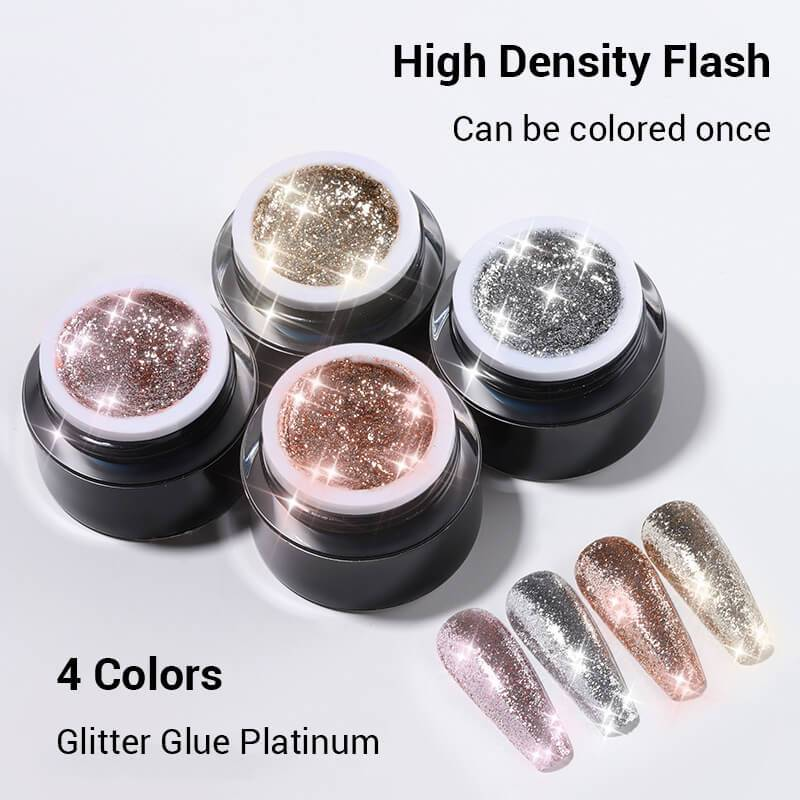 10ml Glitter Platinum Nail Gel Polish VT202294 - Vettsy