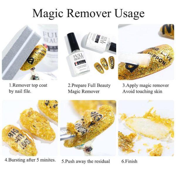 15 ml Magic Remover Nail Polish Remover VT202052 - Vettsy