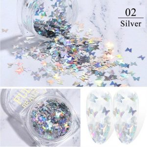 3D Holographic Dazzling Laser Butterflies Sequins VT202158 - Vettsy