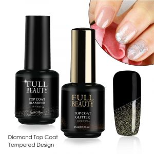 15ml Diamond Top Coat Nail Gel Polish VT202053 - Vettsy