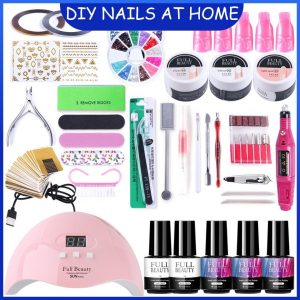 Nail Poly Gel Polish Set With UV Lamp VT202005 - Vettsy