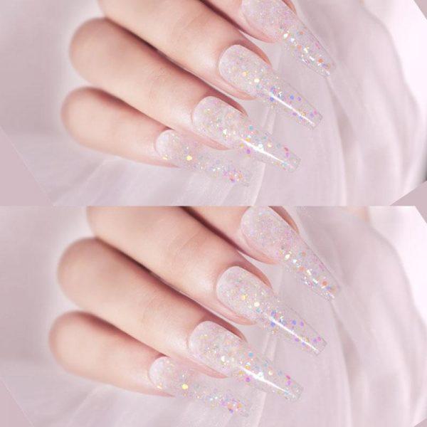 15ML Glitter Sequins Painless Acrylic Building Polygel VT202217 - Vettsy