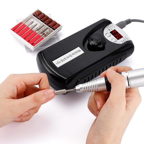 Nail Drill Machine Portable Rechargeable Nail Drill Bits VT202241 - Vettsy