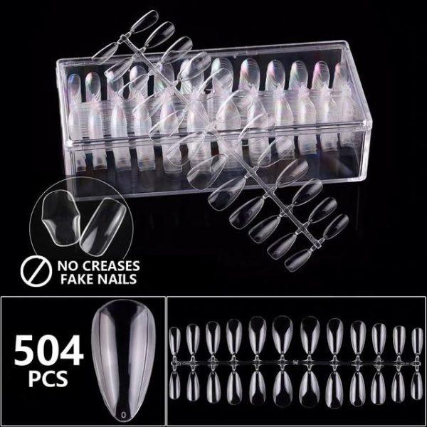 No Crease Coffin/ Stiletto False Nail Art Tips VT202247 - Vettsy