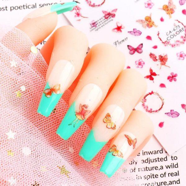 1pcs Butterfly Letter Stickers VT202255 - Vettsy