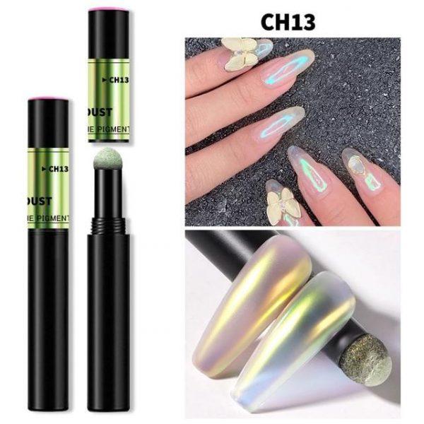 Neon Aurora Holographic Powder Air Cushion Pen VT202299 - Vettsy