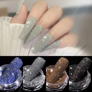 1Box Sparkling Diamond Nail Powder VT202280 - Vettsy