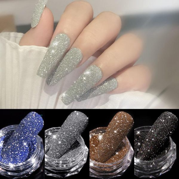 1Box Sparkling Diamond Nail Powder VT202280 - Vettsy