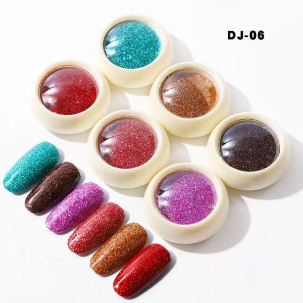 6boxes/set Laser Mixed Nail Art Sequins Glitters Set VT202290 - Vettsy