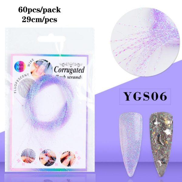 6 bag/set Fluorescent Holographic Fiberglass VT202293 - Vettsy
