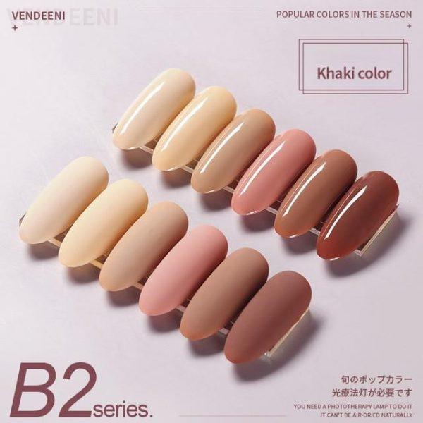 6 Color/ Set Pure Gel Nail Polish VT202295 - Vettsy