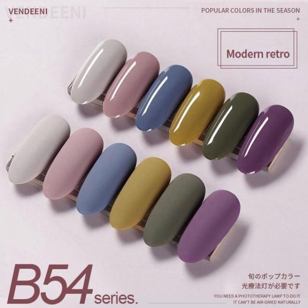 6 Pcs/Set Pure And Semitransparent Gel Nail Polish Set VT202296 - Vettsy