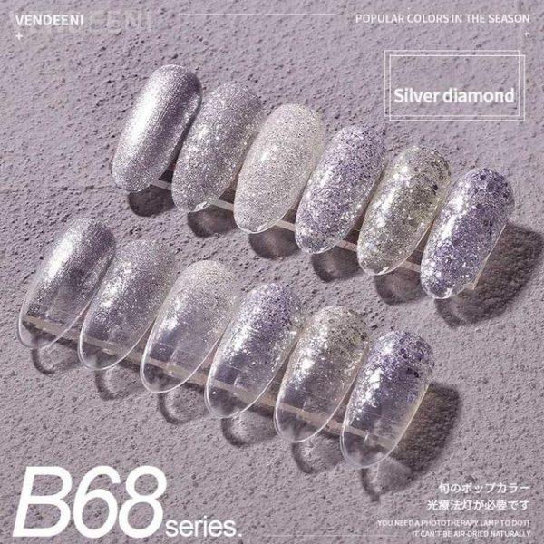 6 Bottle/Set Glitter Sequins Cat Eye Gel Polish VT202297 - Vettsy
