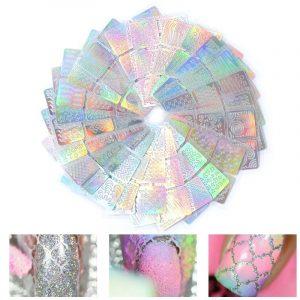 24 Sheets/set DIY Nail Art Hollow 3D Laser Stickers VT202240 - Vettsy