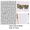 1 Sheet of Self-Adhesive Black-and-White Rose Flower Nail Decals VT202313 - Vettsy